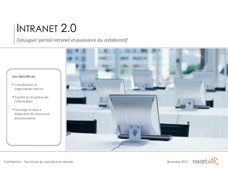 INTRANET 2.0         Conjuguer portail Intranet et puissance du collaboratif     Les bénéfices      Coordination et      ...