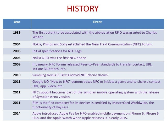 nfc near field communication Notes about nfc, near field communications technology detailing how it operates.