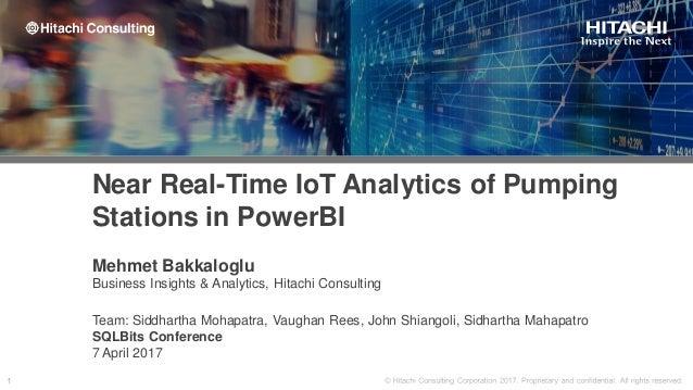 Mehmet Bakkaloglu Business Insights & Analytics, Hitachi Consulting Team: Siddhartha Mohapatra, Vaughan Rees, John Shiango...