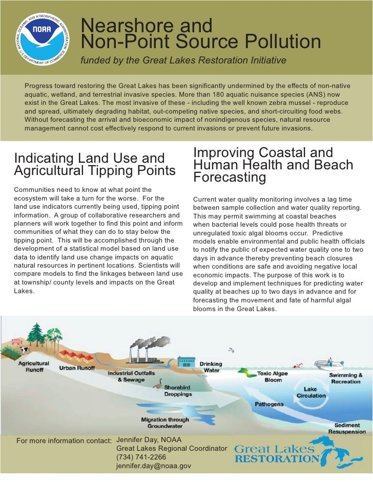 Nearshore and                      Non-Point Source Pollution                      funded by the Great Lakes Restoration I...