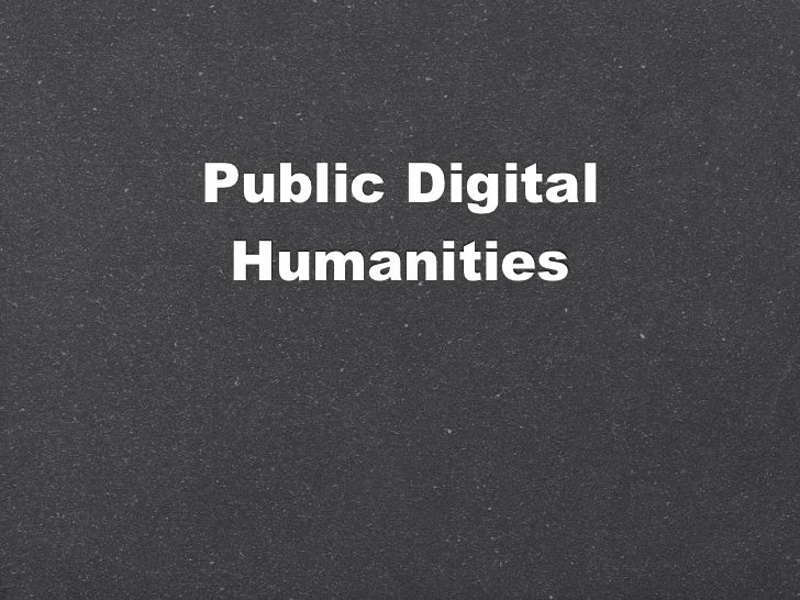 Public Digital Humanities