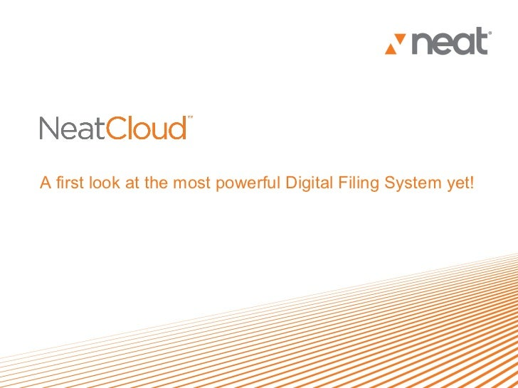 A first look at the most powerful Digital Filing System yet!