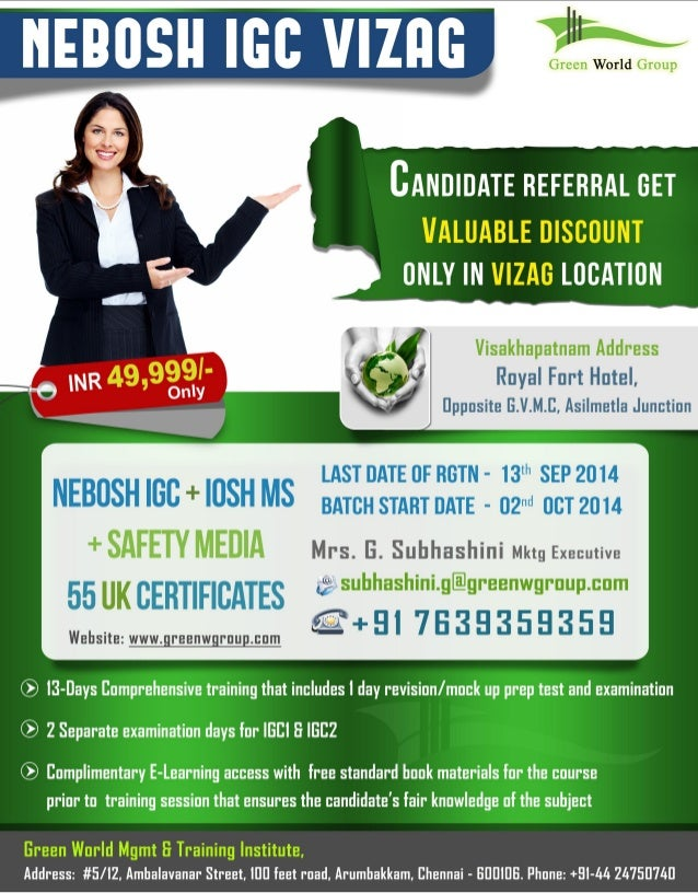 Nebosh Course In Vizag Green World Group