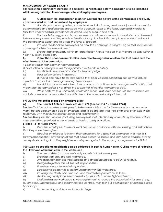 Nebosh important qa nebosh question bank page 17 of 70 18 fandeluxe Image collections