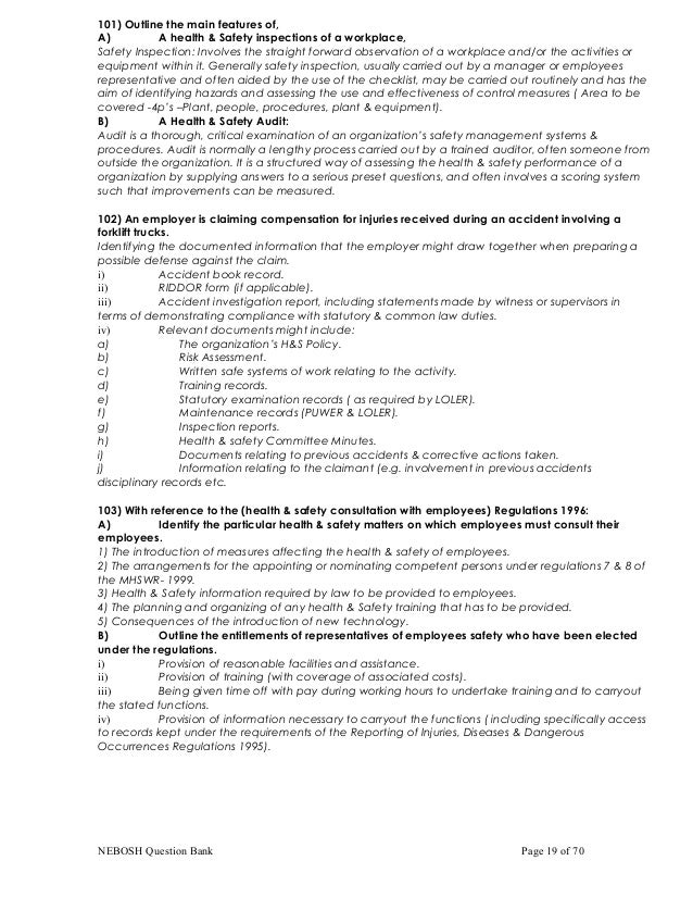 nebosh q a Nebosh igc questions and answers 2011 some of nebosh igc 3 practical paper sample are for sale to free and some nebosh igc q&a nebosh igc questions and answers 2011.
