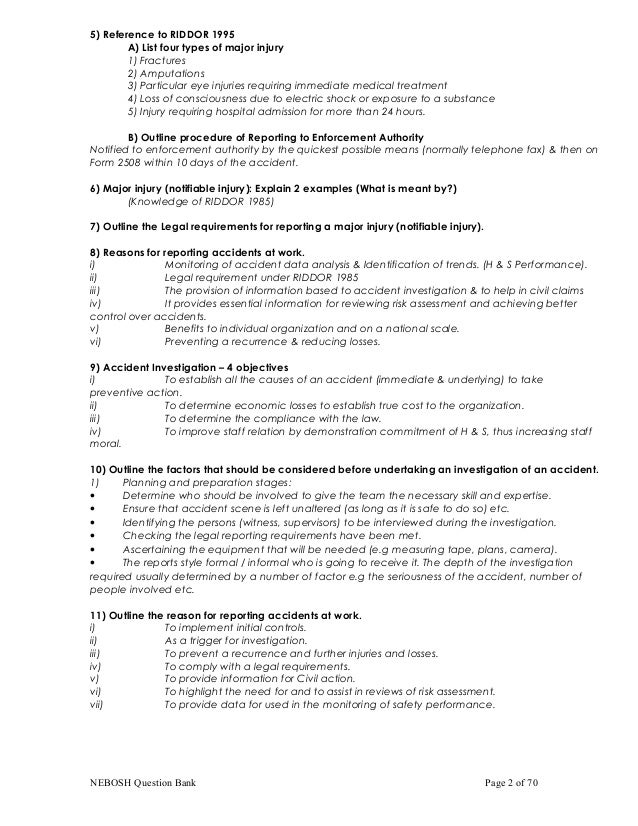 Nebosh important qa nebosh question bank page 1 of 70 2 fandeluxe