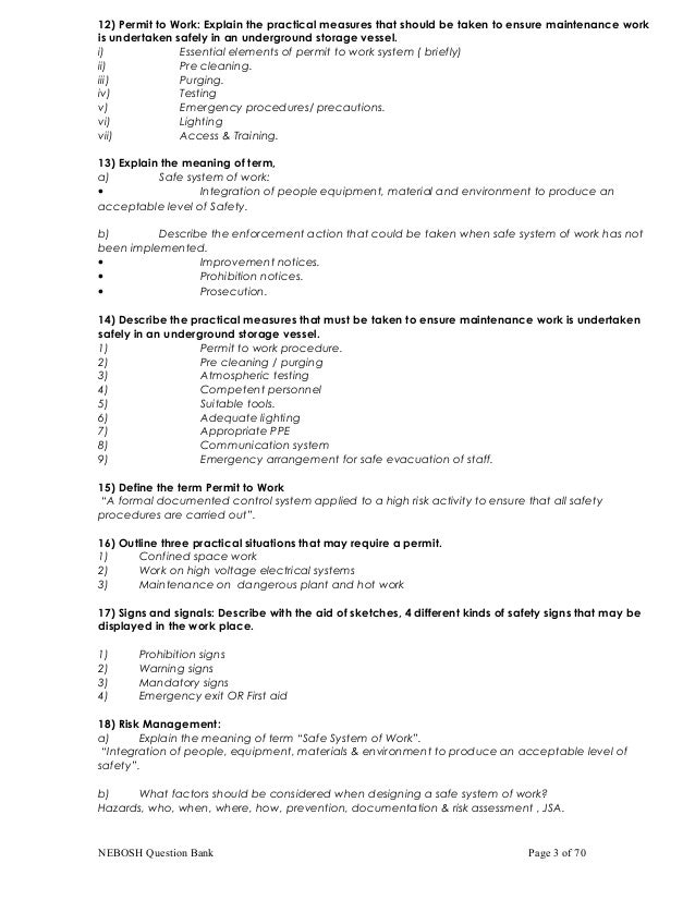Nebosh important qa nebosh question bank page 2 of 70 3 fandeluxe Images