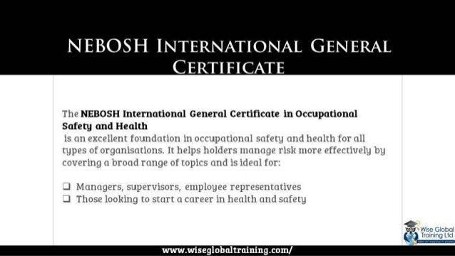 2 The NEBOSH International General Certificate In Occupational