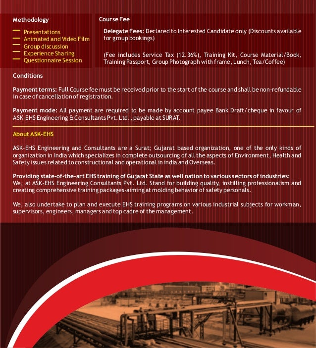 NEBOSH International Technical Certificate In Oil And Gas Operational