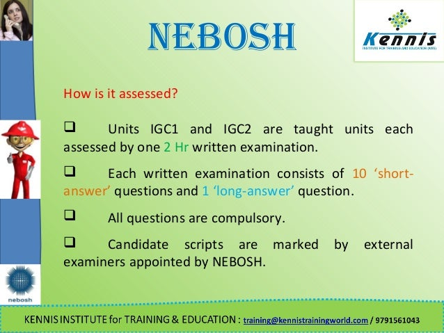 nebosh unit d examiners report Taking your nebosh diploma exams with astutis information about nebosh exam access arrangements and reasonable for learners who have failed unit d.