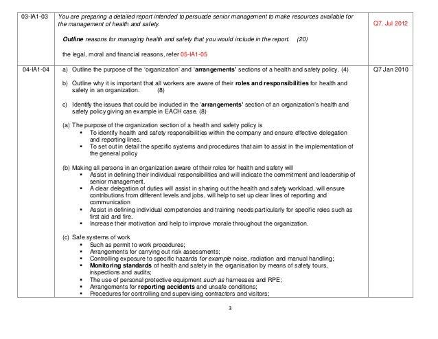 nebosh international diploma unit a questions matrix