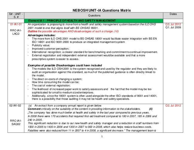 assessment 3 nebosh coursework help