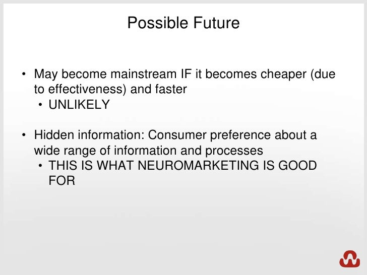 essay on neuromarketing The application of neuroimaging methods to product marketing — neuromarketing — has recently gained considerable popularity we propose that there are two main reasons for this trend.