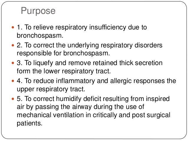 Nebulization procedure