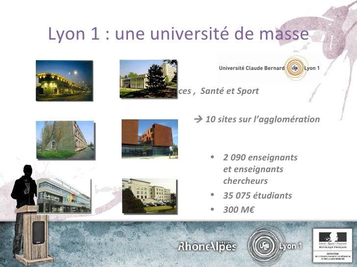 Présentation journée NEC 2010 Lyon 1 Slide 3