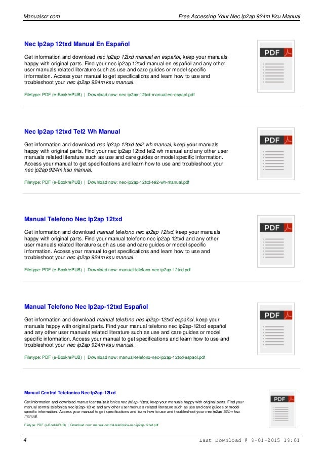 nec ip2at 12txd manual open source user manual u2022 rh dramatic varieties com