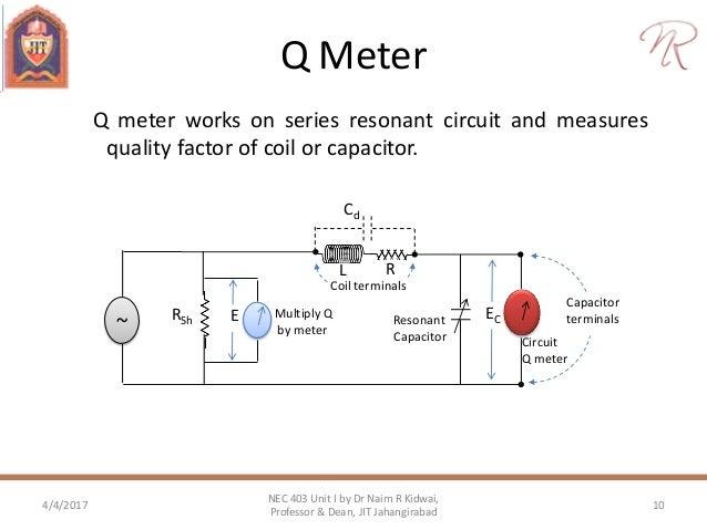 ac bridges inductance and capacitance measurement rh slideshare net Q Meter Internal Circuit Q Meter Application