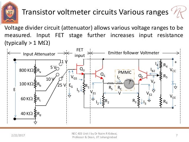 electronic dc voltmeter using pmmc rh slideshare net