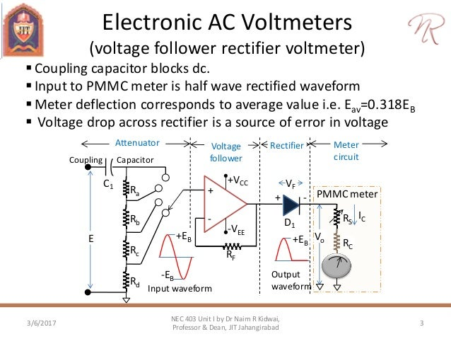 electronics ac voltmeter probes rh slideshare net electronic multimeter circuit diagram