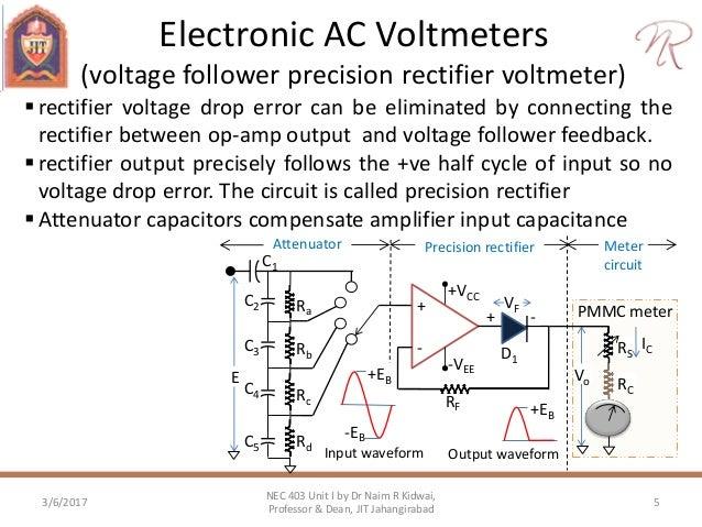 electronics ac voltmeter probes rh slideshare net  electronic multimeter circuit diagram