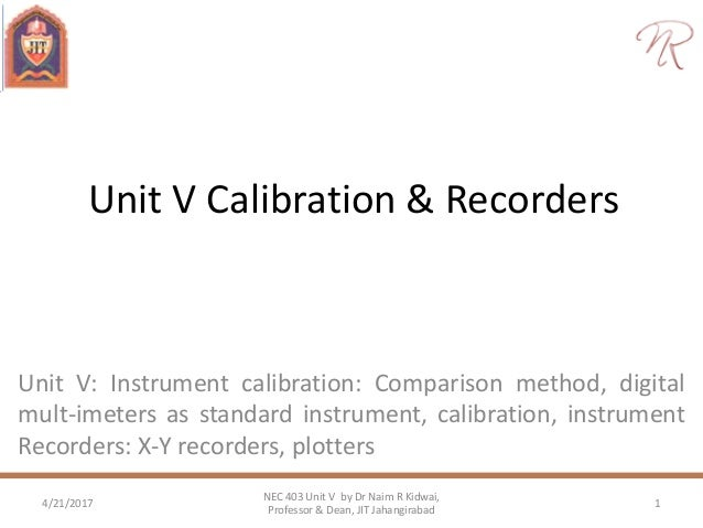 calibration and recorders rh slideshare net