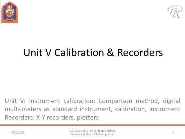 calibration and recorders rh slideshare net