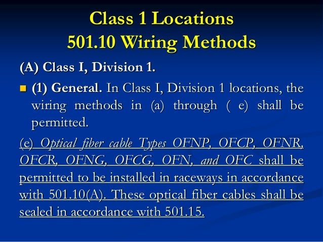 nec and oesc 5 rh slideshare net Class 1 Division 1 Images Installed Class 1 Division 1 Hazmat