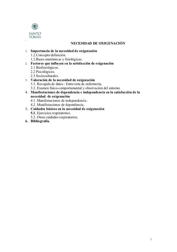 .                               NECESIDAD DE OXIGENACIÓN1.   Importancia de la necesidad de oxigenación     1.2.Concepto/d...