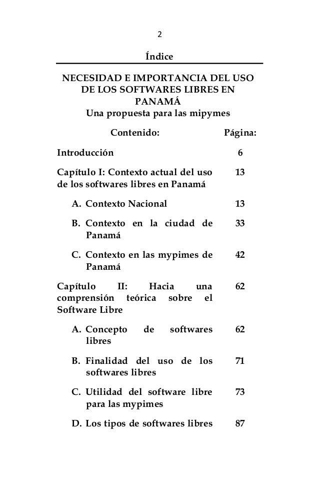 Necesidad e importancia del uso de los softwares libres en panamá. una propuesta para las mipymes Slide 3