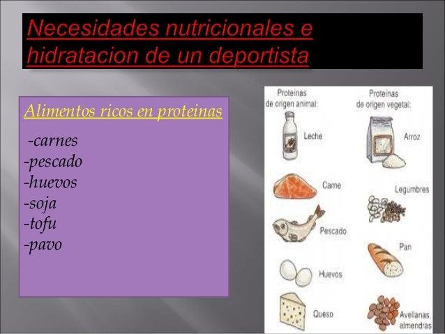 Necesidades nutricionales e hidratacion de un deportista mio - Alimentos ricos en proteinas pdf ...