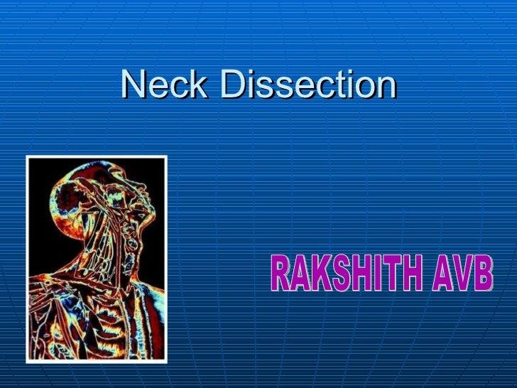 Neck Dissection RAKSHITH AVB