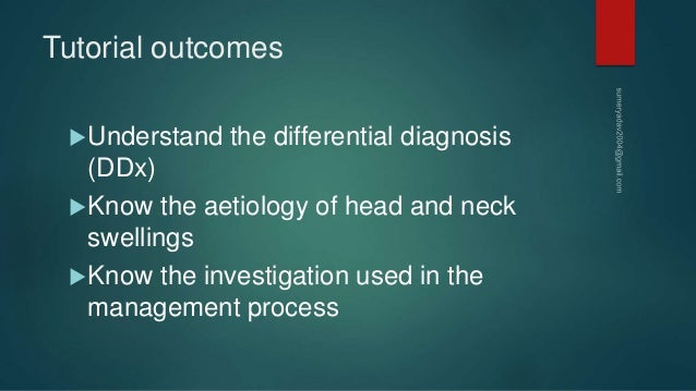 Neck mass differential diagnosis Slide 2