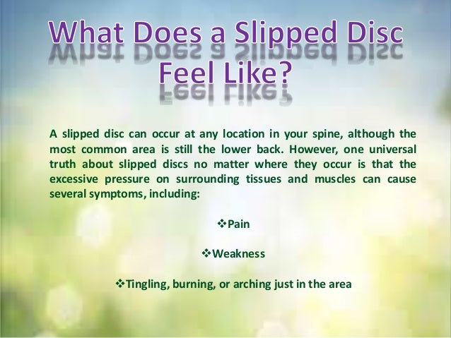 Neck or back pain due to slipped disc
