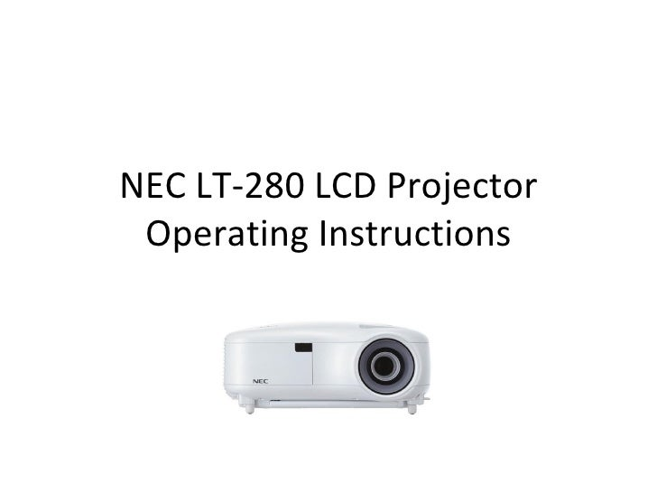 NEC LT-280 LCD Projector Operating Instructions