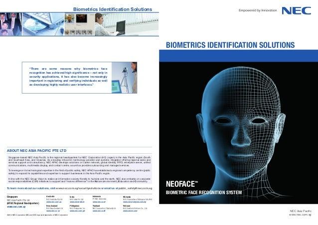 Biometrics identification solutions                                                                                       ...