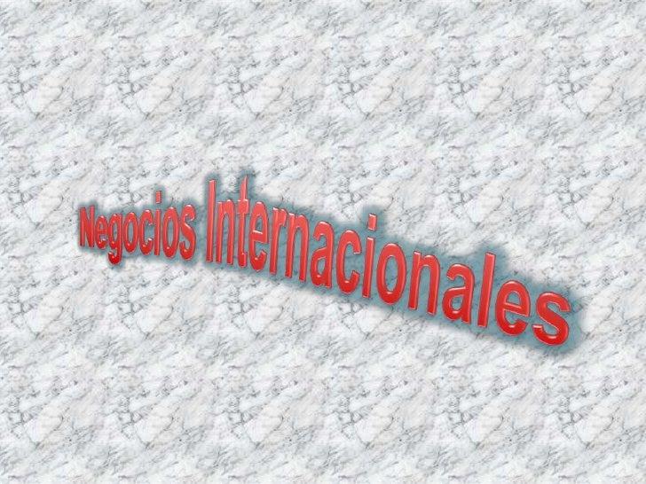 Negocios Internacionales<br />