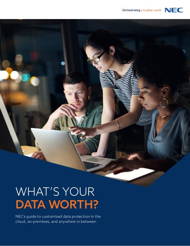WHAT'S YOUR DATA WORTH? NEC's guide to customized data protection in the cloud, on-premises, and anywhere in between.