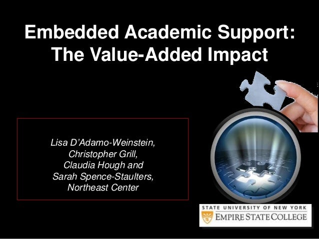 Lisa D'Adamo-Weinstein, Christopher Grill, Claudia Hough and Sarah Spence-Staulters, Northeast Center Embedded Academic Su...