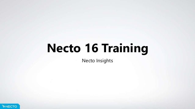 Necto 16 Training Necto Insights