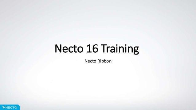 Necto 16 Training Necto Ribbon
