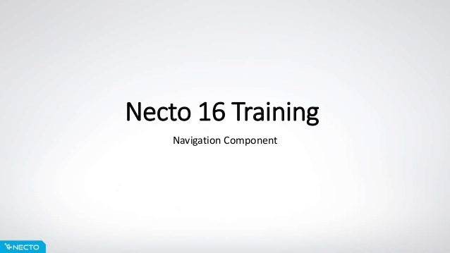 Necto 16 Training Navigation Component