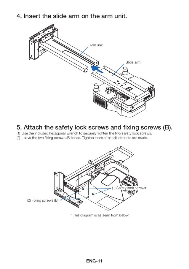 Nec wall mount user manual