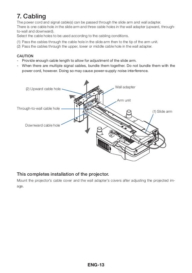 Nec wall mount user manual warning 14 ccuart Images