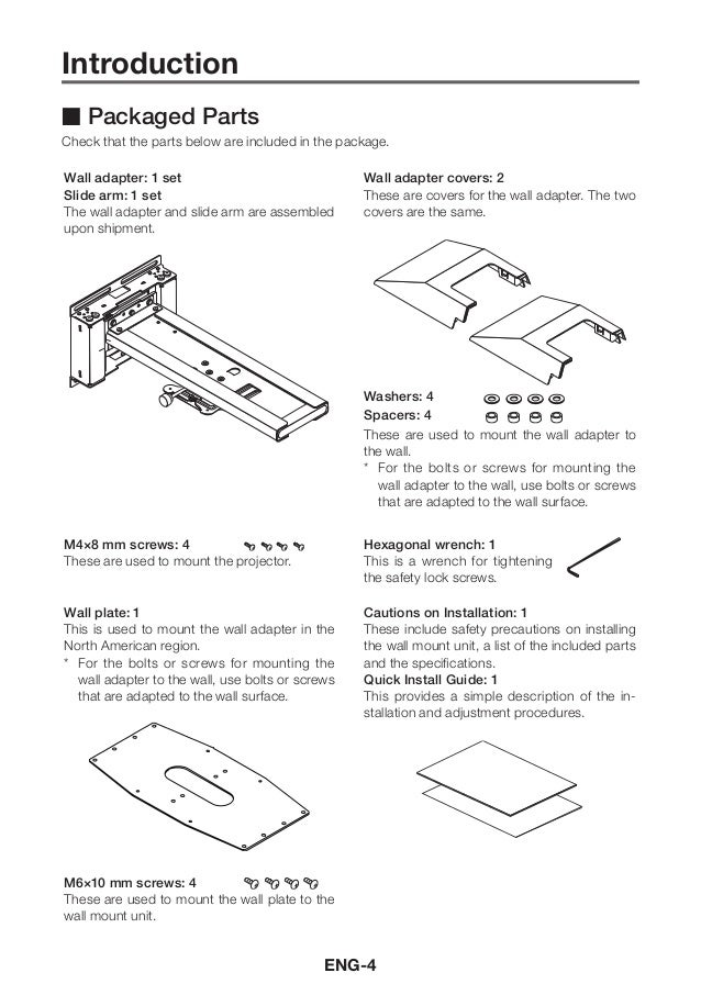 Nec wall mount user manual 5 ccuart Images