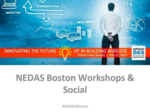 #NEDASBoston          NEDAS  Boston  Workshops  &   Social