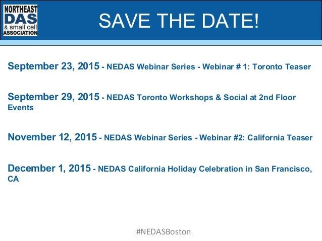 September 23, 2015 - NEDAS Webinar Series - Webinar # 1: Toronto Teaser September 29, 2015 - NEDAS Toronto Workshops & Soc...
