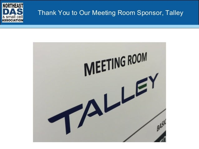 Thank You to Our Meeting Room Sponsor, Talley