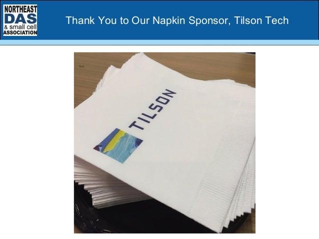 Thank You to Our Napkin Sponsor, Tilson Tech
