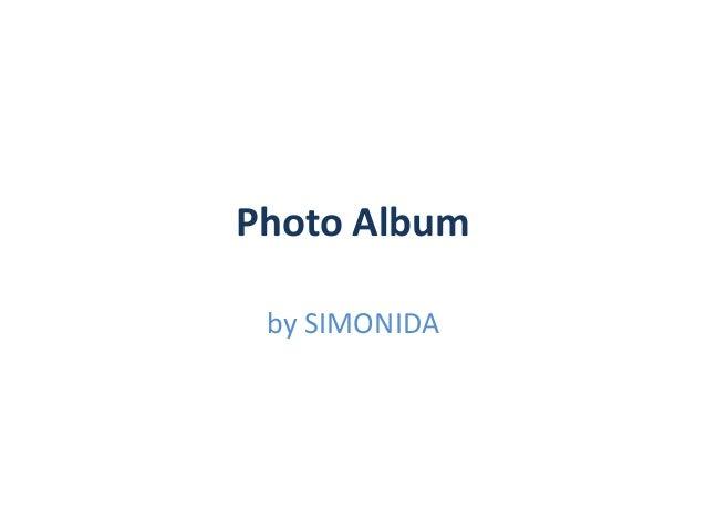 Photo Album by SIMONIDA