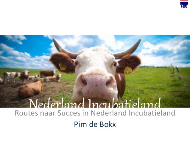 Nederland IncubatielandRoutes naar Succes in Nederland Incubatieland Pim de Bokx